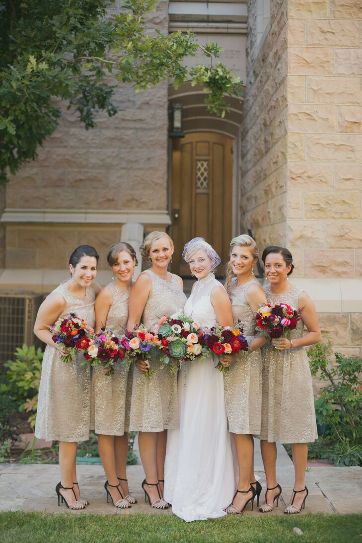 Neutral bridesmaid dresses ombrellifo Image collections
