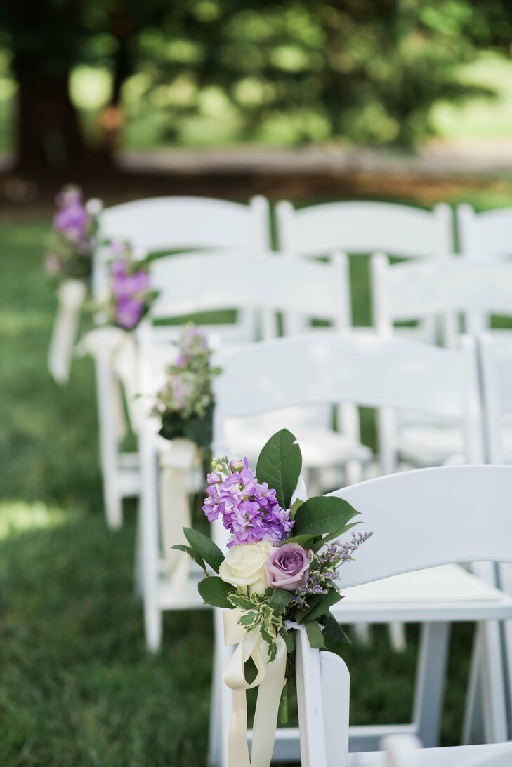 Hydrangea And Rose Aisle Decorations