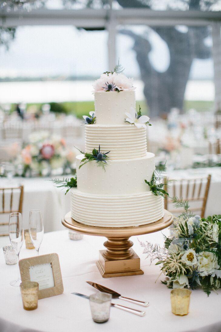 Textured White Buttercream Wedding Cake
