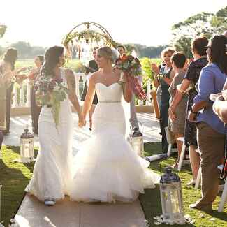 Brides at a same-sex wedding