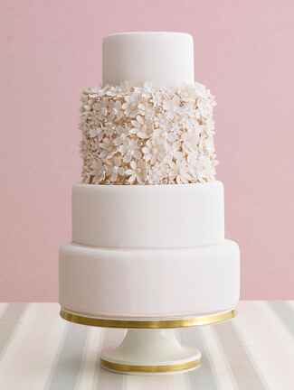 Cheryl Kleinman Cakes flower wedding cake