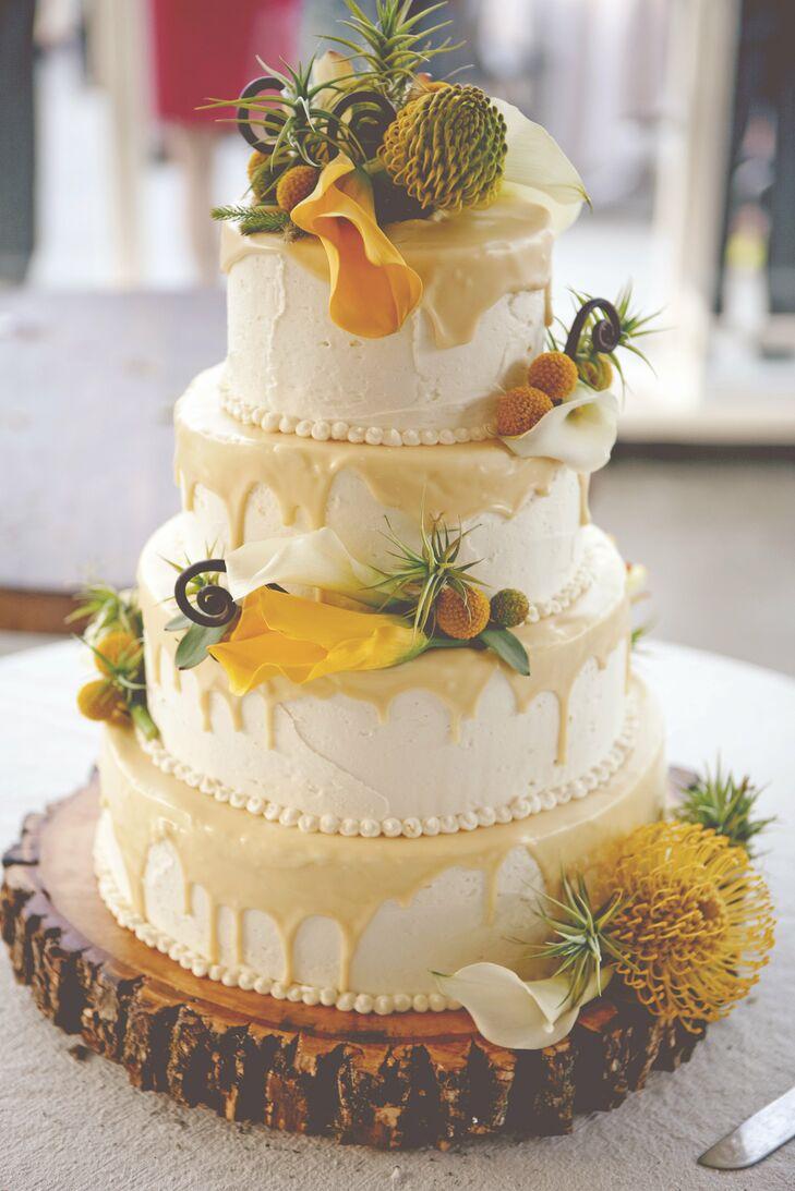 Lemon And White Chocolate Wedding Cake