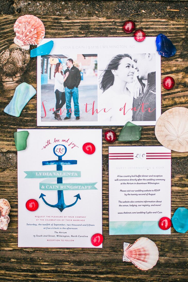 Nautical-Inspired Stationery Suite with Anchor Motif
