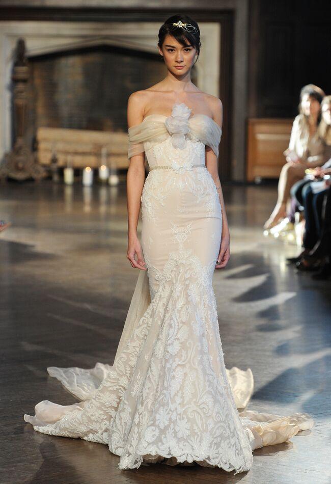 894ca1f35141 Inbal Dror Wedding Dresses Fall 2015 | Maria Valentino/MCV Photo |  Blog.theknot