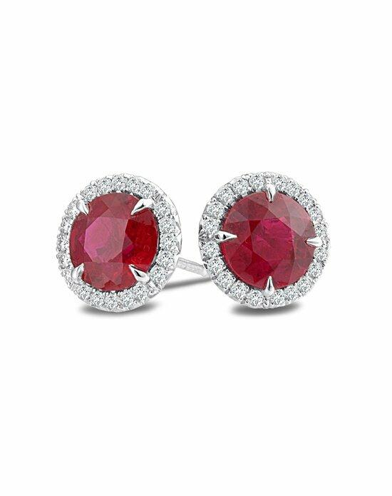 Platinum Wedding Day Jewelry Must-Haves Omi Prive Ruby and Diamond Stud Earrings in Platinum Wedding Earrings photo