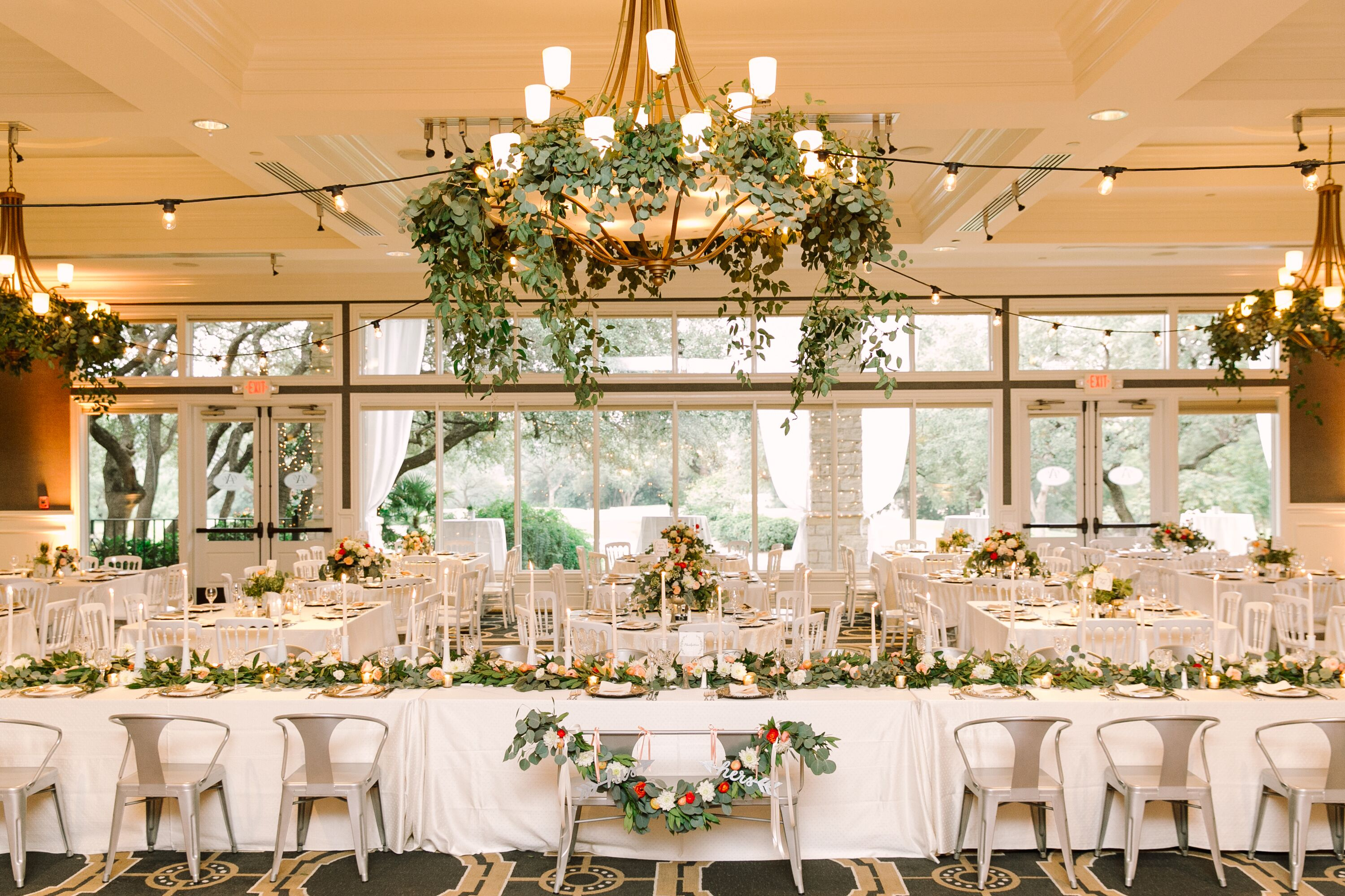 Garlands And Textured Linens In New York Garden Party