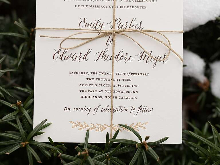 SaveTheDates Ideas Advice – Winter Wedding Save the Dates