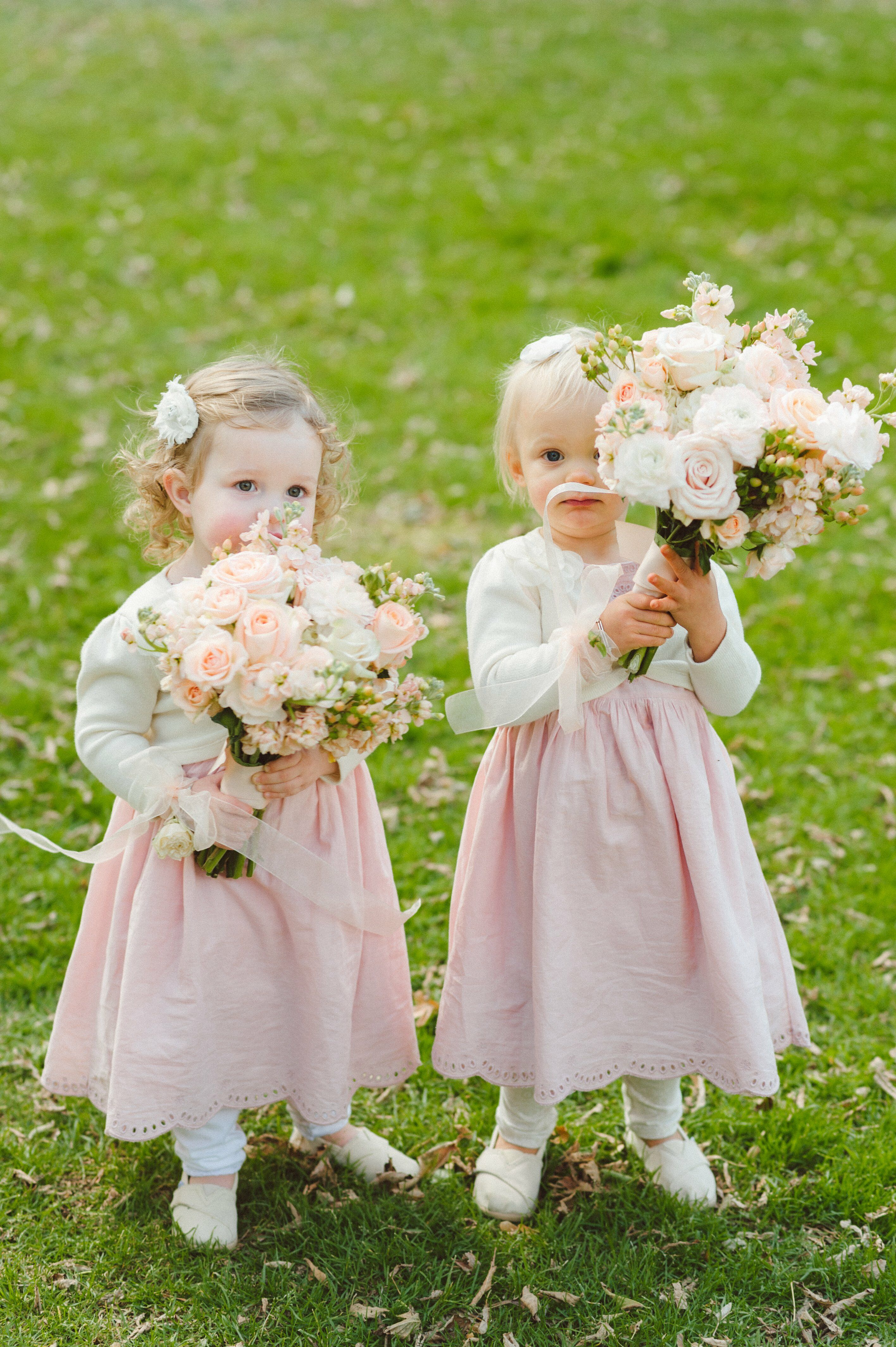 pale pink flower girl dresses