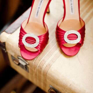 Real Red Wedding Shoes
