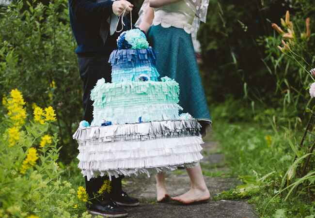 Ombre Wedding Cake Pinata