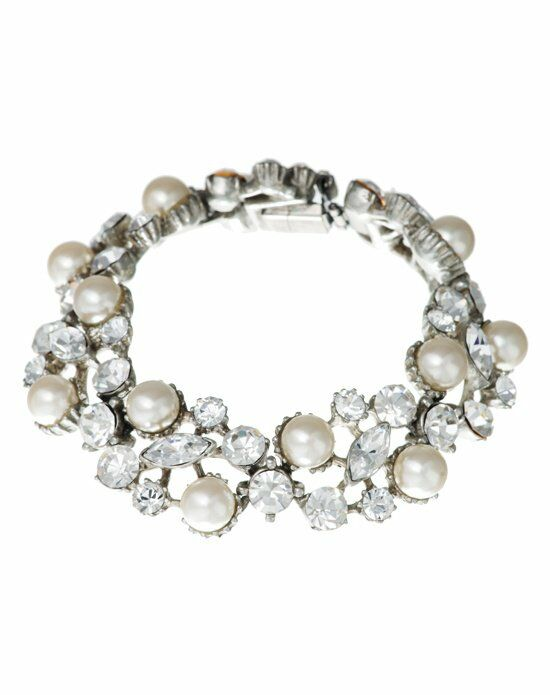 Thomas Laine Ben-Amun Vintage Inspired Pearl and Crystal Bracelet Wedding Jewelry photo