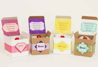 ring pops in boxes for bridesmaid proposal