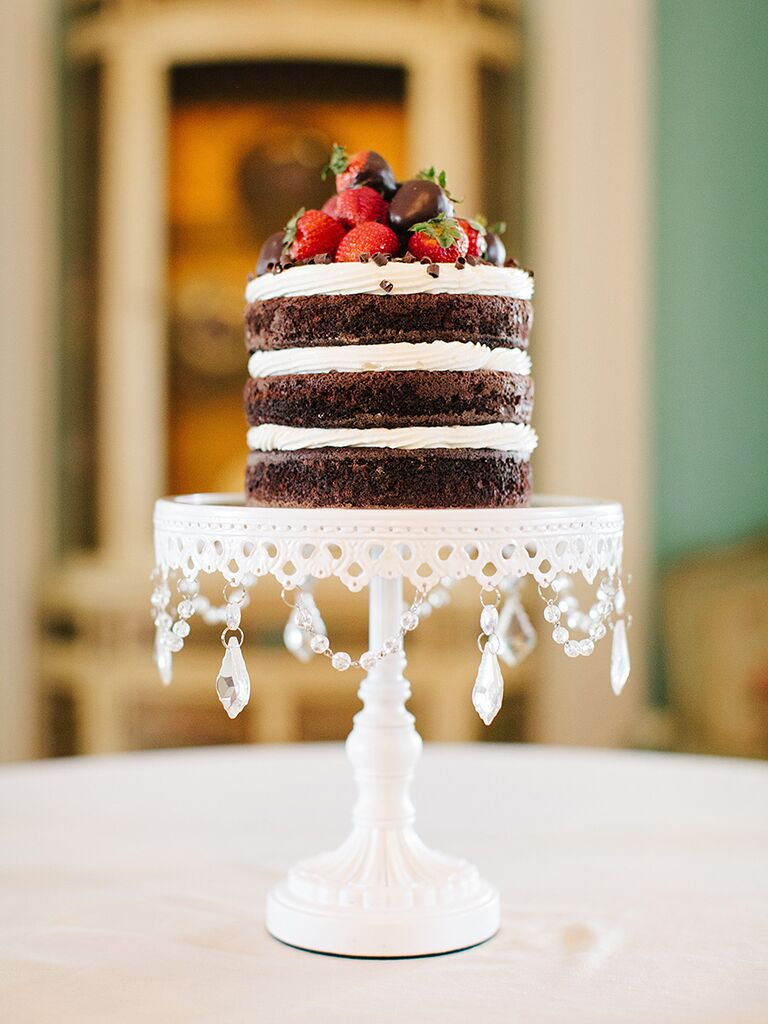17 gorgeous fall wedding cakes naked wedding cake for a fall wedding junglespirit Images