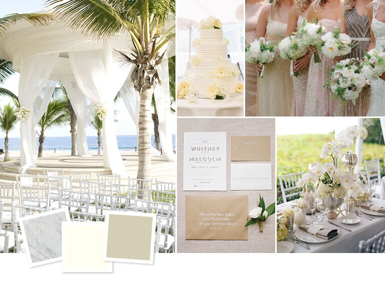 Best beach wedding color palettes