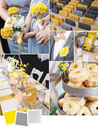 Modern gray wedding decor