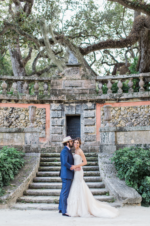 A Romantic Garden Wedding At Vizcaya Museum Amp Gardens In