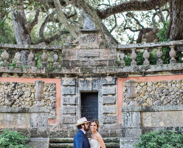 Evening Garden Wedding At Vizcaya Museum And Gardens In Miami Florida
