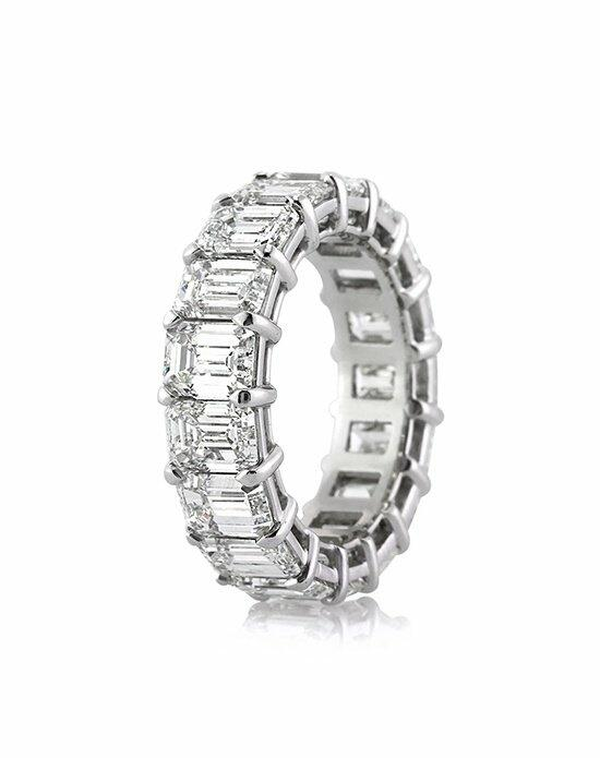 Mark Broumand 9.40ct Emerald Cut Diamond Eternity Band in Platinum Wedding Ring photo