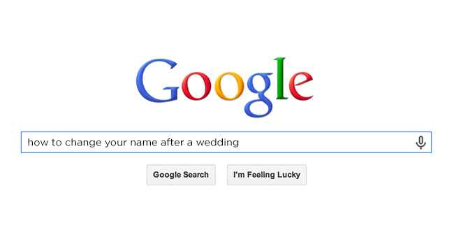 How to change your name after a wedding