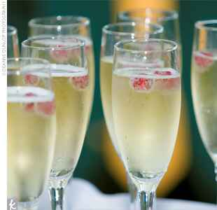 champagne with cranberries