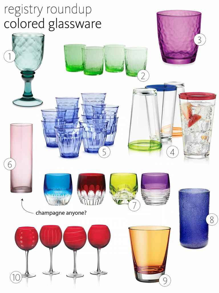 Colored glassware roundup