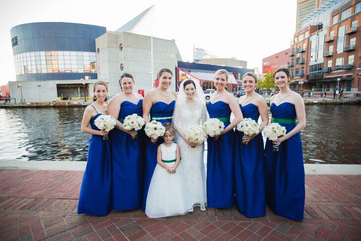 Sapphire Blue Bridesmaid Dresses