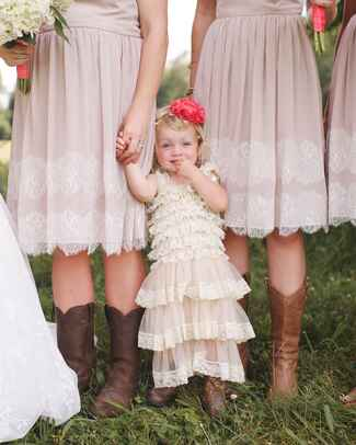 Cute flower girl idea to give her matching cowboy boots