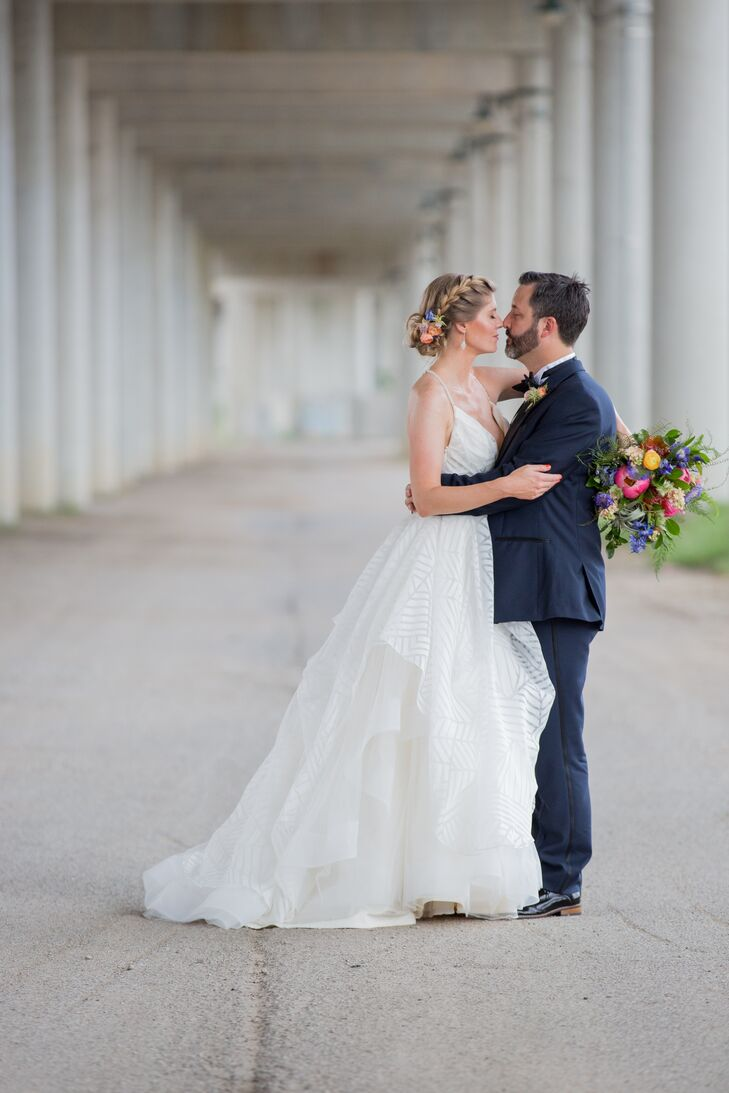 A Bohemian, Industrial Tie-Dye Wedding at The Guild in Kansas City ...