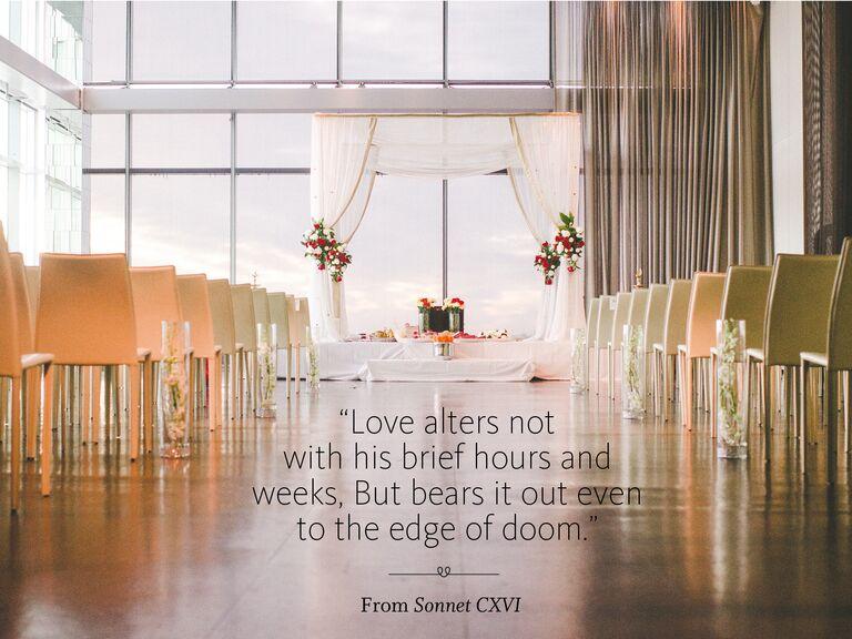 Poetry Readings Sonnet CXVI Wedding Ceremony Reading