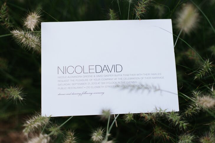The clean and simple invitations had a lovely minimalist style.