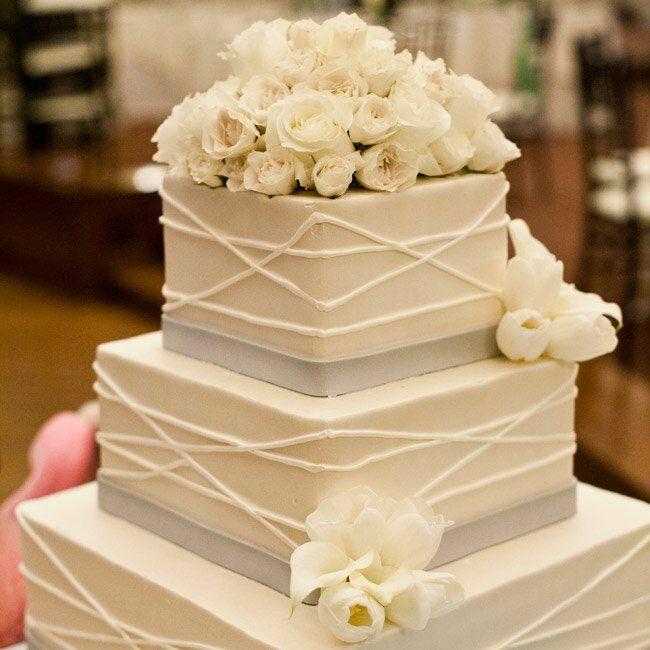 Elegant Square Cake