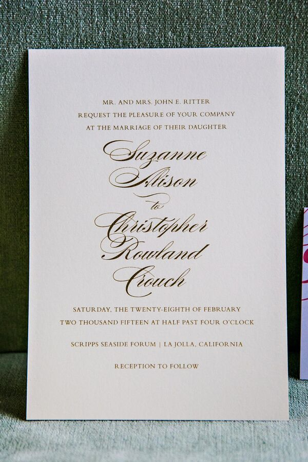 White and Black Classic Wedding Invitations