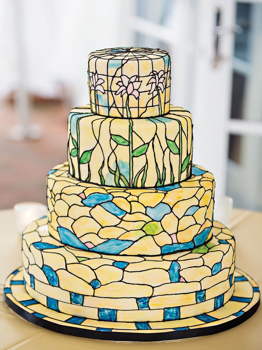 Hand-Painted and Watercolor Wedding Cakes for Spring