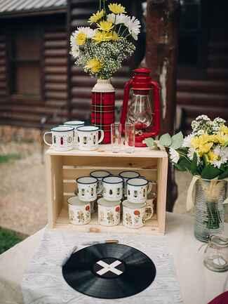DIY ideas for a rustic camp wedding