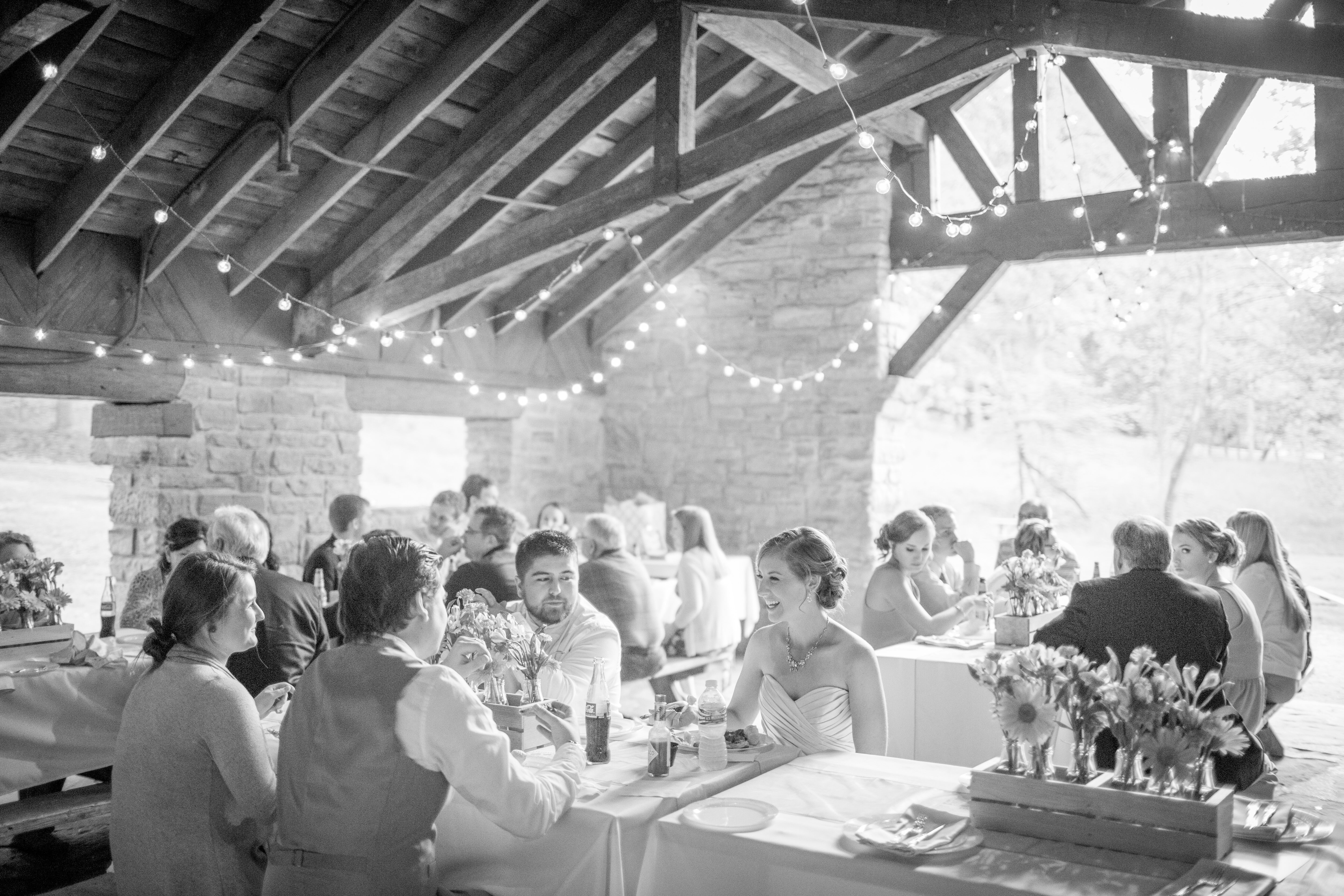 brown county state park pavilion wedding reception