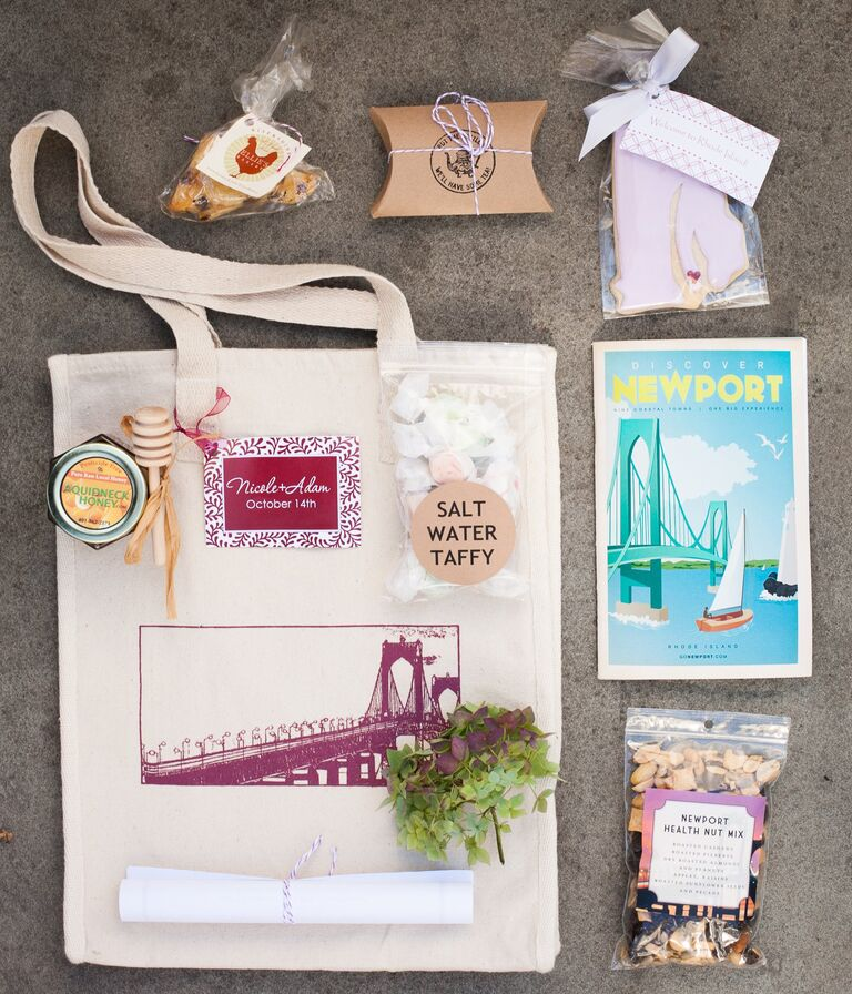 What goes in the welcome bag destination wedding planning newport ri wedding welcome bag junglespirit Images