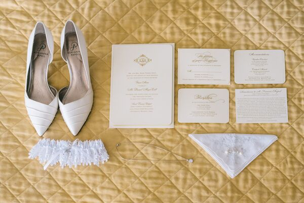Timeless Ivory Gold Wedding With Scottish Traditions In: Ivory-and-Gold Snowflake Escort Cards