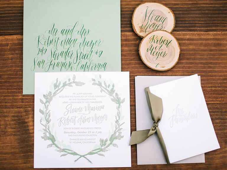 Winter wedding stationery and invitation trends