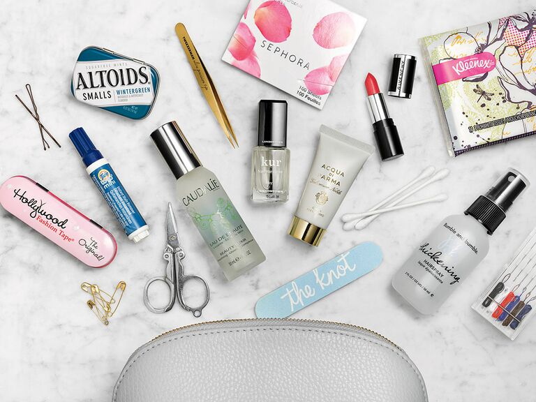 Bride's emergency kit for wedding day