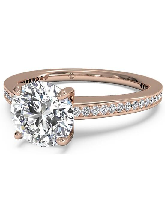 Ritani Round Cut Diamond Micropave Band Engagement Ring in 18kt Rose Gold (0.20 CTW) Engagement Ring photo