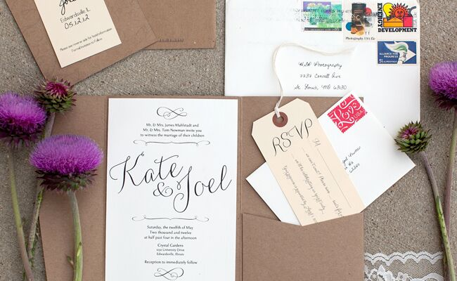 Rustic DIY invitation suite| Heather Roth Fine Art Photography | blog.theknot.com