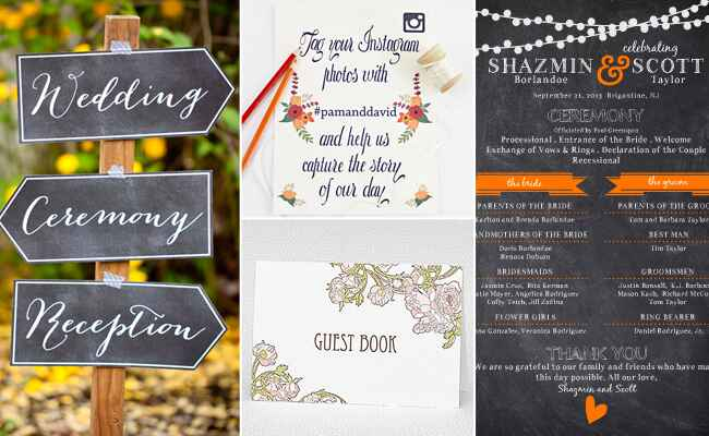 DIY Wedding Signs: Etsy/The Munch / TheKnot.com