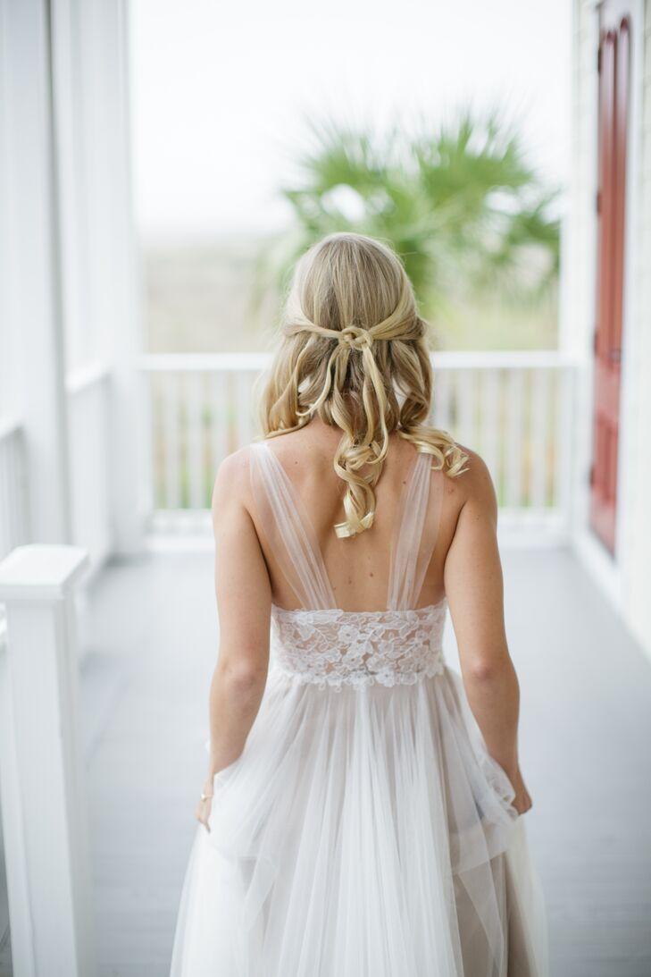 Diy Half Up Bridal Hairstyle