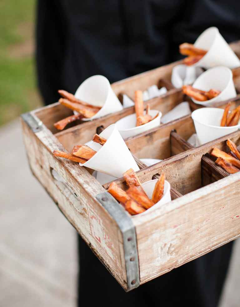 Sweet potato fries wedding catering