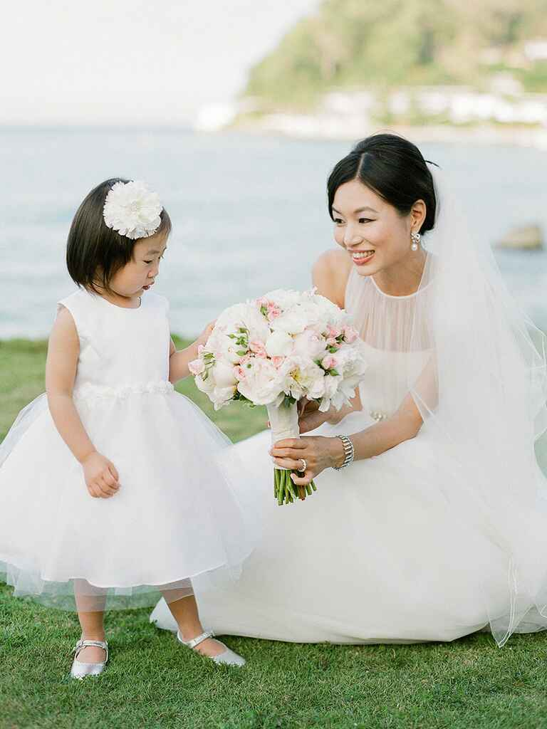 Cute stylish flower girl