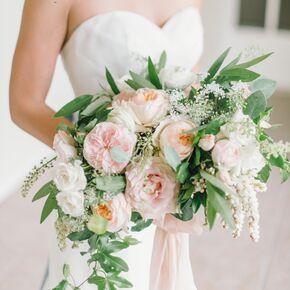 large elegant blush pink rose bouquet