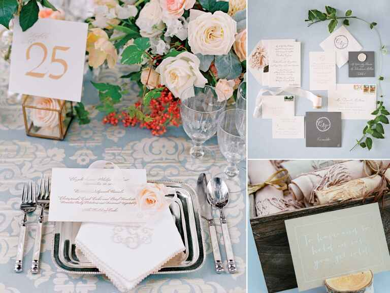 Calming wedding color palette trends