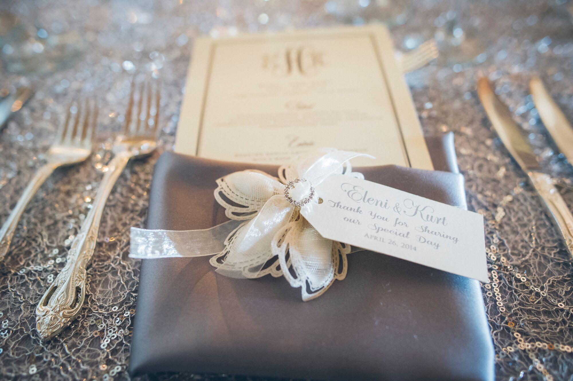 Floral Almond Koufeta Wedding Favor