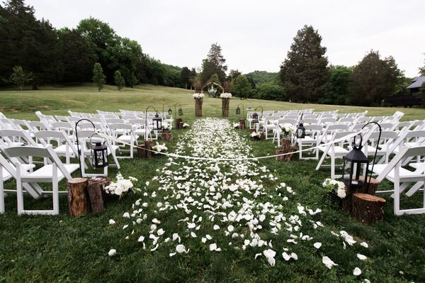 Rustic Meadow Ceremony Decor
