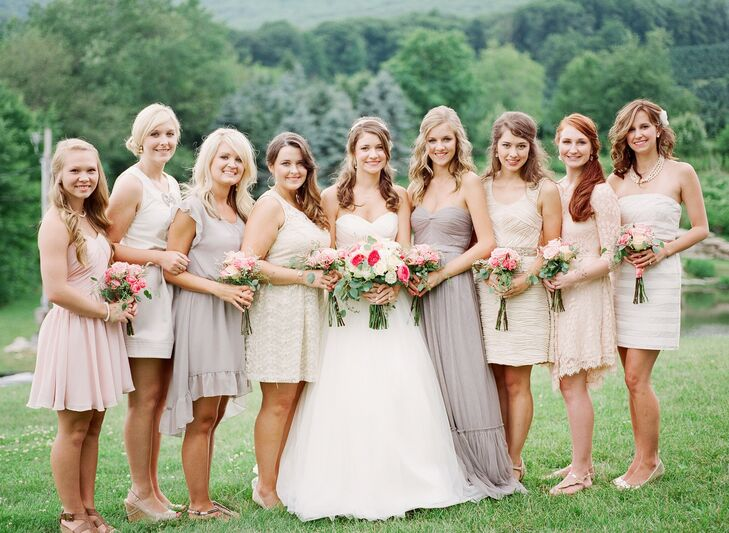 Neutral-Color Bridesmaid Dresses